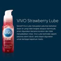 VIVO STRAWBERRY LUBE Pelumas Lubricant Kondom 60g