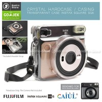 Fujifilm Hardcase SQ6 Polaroid Case Instax SQUARE SQ 6 Casing Bening