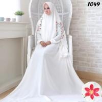 Harga putih gamis set ceruti embordir rose syari busana muslimah umroh | Pembandingharga.com