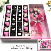 kado valentine coklat trulychoco special hellokitty mickey