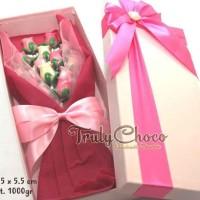 kado special valentine coklat trulychoco bunga