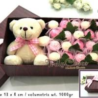 kado cantik valentine dengan boneka coklat trulychoco
