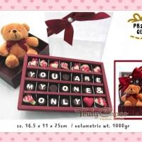 kado valentine coklat trulychoco special dengan boneka
