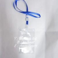set name tag set id card panitia ujung lipat dengan plastik