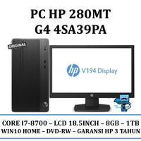 "PC HP 280 MT G4 Core i7 (4SA39PA) - 8GB/1TB/18.5""/DVD-RW/WIN10HOME"