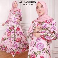 Gamis Maxi Indah 08 Baju Muslim Wanita Baju Gamis Murah