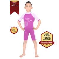 Baju Renang Mengapung Lengan Pendek Safeswim Ungu Anak Laki-laki