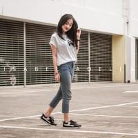 SALE - HANA Sneakers Wanita Casual Hitam Putih