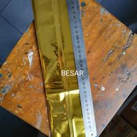Harga pembungkus makanan aluminium foil ukuran besar gold | antitipu.com