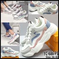 sepatu sneaker wanita/cewek sport comfort shoes