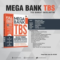 Buku MEGA BANK TBS (Tes Bakat Skolastik) Bonus CD