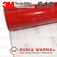 STICKER 3M 610 SERIES SKOTLET REFLECTIVE MATA KUCING RED 60 CM ROLL