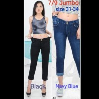 Celana 7/9 Stik Balik Jumbo Jeans Pants Girl Wanita Women Denim -
