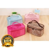 ORI Tas Multi Fungsi Tas Kosmetik Motif Huruf Travel Bag Tas TB-92222