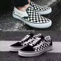 Sepatu Vans Motif Catur Oldskool Authentic Pria Vans Checkerboard