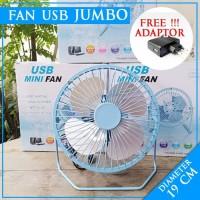 promo Kipas Angin Fan USB JUMBO Diameter 19cm FREE Adapt