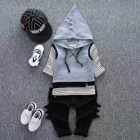 Setelan Baju Rompi Anak Balita   Baju Set 3in1 Anak Laki laki Import