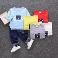 Harga baju setelan anak laki laki sweater anak balita import | Pembandingharga.com