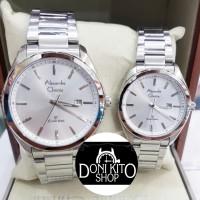 Jam Tangan Couple Alexander Cristie Original AC8591 Silver