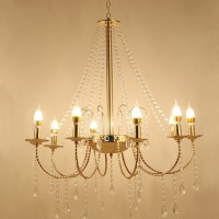 Lampu Gantung Crystal Rain Chandelier 8 Head Lampu LED Dekorasi Pesta