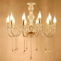 Lampu Gantung Gold Acrylics 10 Head Candelabras Chandelier Lampu LED
