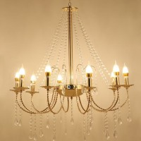 Lampu Gantung Crystal Rain Chandelier 10 Head Lampu LED Lampu Pesta