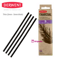 DERWENT Willow Charcoal Thin (15) / Charcoal Pencil - Pensil Derwent