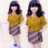 baju setelan anak perempuan Kids Set Cella Batik