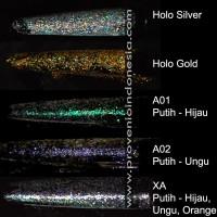 Bubuk Glitter Kiloan Hologram Holo Gliter Serbuk Emas Silver slime