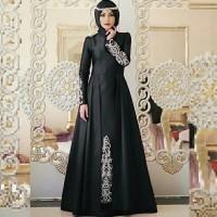 Maxi Dress Aina Hitam