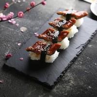 Slate plate persegi piring batu alami piring makan piring saji sushi