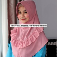 Hijab / Jilbab Simple Pad Remple Tengah