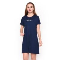 LEMONE T-shirt Dress Cewe Spandek Premium Baju Wanita 710SS107012