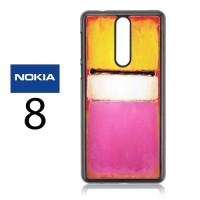 Casing Nokia 8 Rothko White Center Hard Case Custom