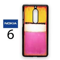 Casing Nokia 6 Rothko White Center Hard Case Custom