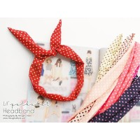 Kode 02 Bandana Bunny Canvas Kawat Bando Chibi Aksesoris Headband