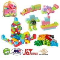 Mainan Edukasi Anak Block Pintar Tas Ransel Lego Puzzle Balok 46pcs