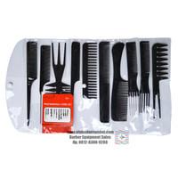 Sisir Set Hair Styling Untuk Salon Dan Barbershop