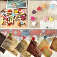 DIY wooden clip 10pcs+tali 1.5m