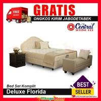 [Bed Set] Central Deluxe 100x200 Kasur Spring Bed Set Florida
