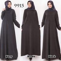 Baju Gamis Wanita Gamis Jeans Jersey Zipper Gamis Polos 9915