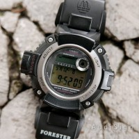 Jam Original CASIO Forester FTS-100 Twin Sensor Altimeter Barometer