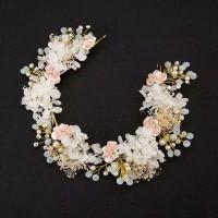 Headpiece Bunga Keramik Aksesoris Pengantin Pesta Hijab dan Non Hijab thumbnail