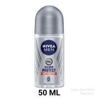 Nivea Men Deodorant Roll On 50ml Silver Protect