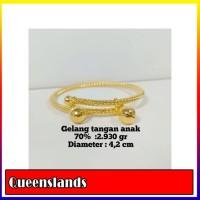 Gelang Tangan Anak Emas / Mas Kuning 70% Berat 2.930 Gram Dia 4-2Cm