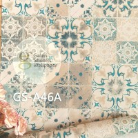 Harga stiker wallpaper batik tegel hijau kode | antitipu.com