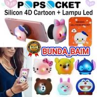 POP SOCKET LAMPU LED PPS82 / POP SOCKET KARAKTER RING STAND GRIP HP