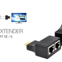 HDMI Extender to Dual Lan RJ45 by Cat-5e/6 Cable