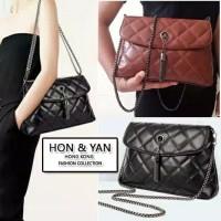 Tas wanita cewek branded impor bag XL Crossbody Shoulder Hon&Yan murah