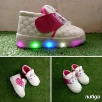 Ima Sepatu Anak Perempuan Led Boots Karakter - 24, Putih